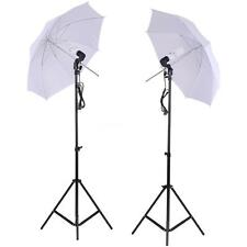 "Photo Studio Lighting Kit Set 2 Light Stand + 33"" White Soft Light Umbrella"