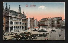 C1910 View of the Market/ Band stand outside the Grand Place, Belgium