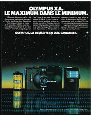 Publicité Advertising 1980 Appareil photo Olympus XA