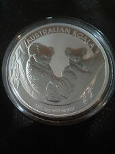 2011 1oz .999 Fine Silver Australian Koala Coin  - Natural toning on Back Rim -