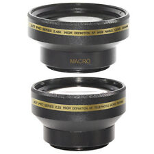 30mm 0.43x Wide Angle,Macro,2X Telephoto Lens Kit for Sony DCR DVD610 DVD505,NEW