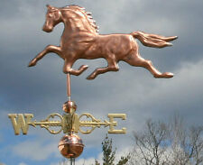 SWEET COPPER HORSE WEATHERVANE W/SCROLLED DIRECTIONALS #415  MADE IN USA