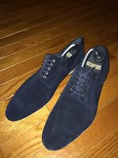 ZARA MAN BLUE SUEDE LEATHER OXFORD SHOES EURO 43 SIZE 10