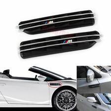 Pair BMW M3 3 Series E36 E46 E90 Black Side Fender Air Flow Vents Grille Grill