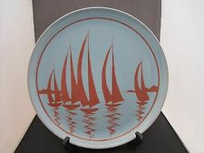 Poole pottery , Aegean Charger, Silhouette 1970's  Designed by Leslie Elsden.