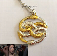 Never Ending Story Auryn Snake Amulet Pendant Charm Necklace Link Chain