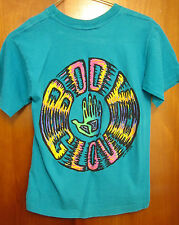 BODY GLOVE youth small T shirt surfing water-sports Redondo Beach 1991 dayglo