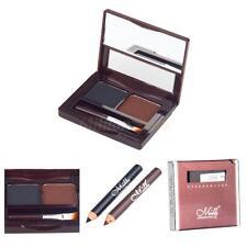 Waterproof Makeup Cosmetic Eyebrow Cake Powder 01# with 2 Mini Eyebrow Pencils
