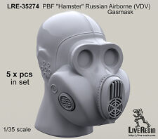 "Live Resin 1/35 PBF ""Hamster"" Russian Airborne (VDV) Gas Masks"