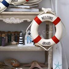 Welcome Nautical Decor Lifebuoy Fishing Net Beach Wall Hanging Decoration 20CM