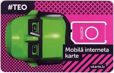LATVIA - OKARTE - PREPAID INTERNET GSM  SIM Card. NEW Unactivated and un-punched