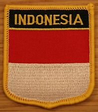 INDONESIA Indonesian Shield Country Flag Embroidered PATCH Badge P1