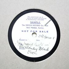 "STANLEY BLACK ORCHESTRA ""You Moved Right In"" DECCA SHELLAC TEST PRESSING [78]"