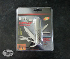 NEW 8 in 1 Stainless Steel Multi Purpose Utility Pocket Knife Tool Camping