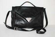 80er Vintage Leder Tasche Messenger Leather Bag Shopper Schultertasche Satchel