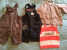 Baby Boys 3-6 Months Clothing Bundle Dungarees Rocha Little Rocha Coat
