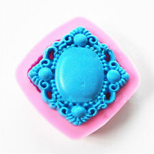 Vintage Jewelry Silicone Mold Gem Design Chocolate Cake Mold Baking Tool New