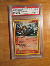 PSA-10 GOLD STAR Pokemon ENTEI Card EX UNSEEN FORCES Set 113/115 Ultra Rare TCG
