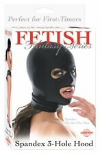 Fetish Fantasy Spandex 3-hole Hood, Black, One Size Fits Most...New