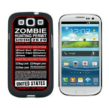 United States Zombie Hunting License Permit - Case for Samsung Galaxy S3 - Black