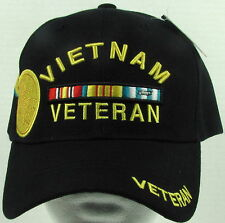 NEW MILITARY U.S. VIETNAM VETERAN WITH CAMPAIGN MEDAL & RIBBONS BASEBALL CAP