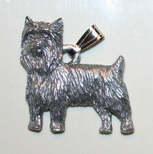 Yorkshire Terrier Yorkie Puppy Cut Dog Harris Fine Pewter Pendant USA Made