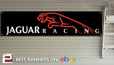 Jaguar Racing Banner – heavy duty for workshop, garage, man cave retro