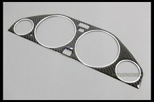 CARBON GAUGE BEZEL TRIM EMBLEM CHROME RING FOR 1991-1999 BMW E36 M TECH 325I M3