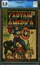 CAPTAIN AMERICA #100 CGC 5.0 Jack Kirby cover & art! 1968