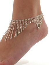 Anklet Rhinestone Anklet Silver  Adjustable Summer Jewelry Fringe NEW