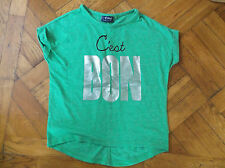 Girls Next Green Short Sleeve T-Shirt age 4 Years 104cm