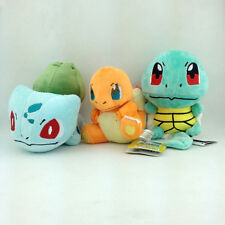 3X Kanto Starter Pokemon Bulbasaur Charmander Squirtle Plush Toy Stuffed Animal