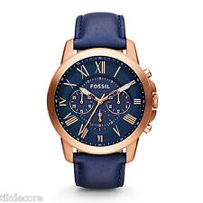 Fossil FS4835 Grant Chronograph Leather Strap Watch