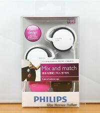 Genuine Philips SHS3800 Ear-Hook Headphones Earclip- interchangeable 3 color cap