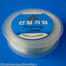 30M Clear Elastic Stretch Cord Beading Thread 1.0mm Jewellery Making