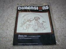 Vintage DIMENSIONS CREWEL EMBROIDERY Picture Kit BEAUTIFUL TIMES 1979 NIP