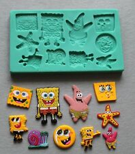 Silicone Mould SPONGE BOB CHARACTERS Decorating Fondant / fimo mold