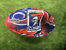 #LL. SMALL 2006 AUTOGRAPHED NEWCASTLE RUGBY LEAGUE BALL