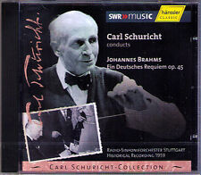 Carl Schuricht: Brahms un Deutsches Requiem CD Maria Stader Hermann Prey