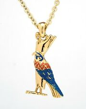 EGYPTIAN GOD HORUS BIRD GOLDEN NECKLACE/PENDANT JEWELRY.ELEGANT DESIGN