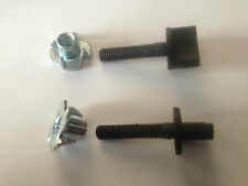 "Nylon Wing Bolt w/ Blind Nut M4 x 22mm (1/8"" x 7/8"") Thumb Screw"
