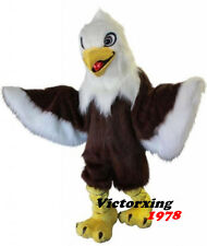 Deluxe Long Fur Eagle Mascot Costume Animal Cartoon Costume Free Shipping