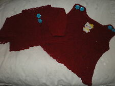 Handarbeit - 2tlg. Set - kirschrot - Kleid u. Jacke - Hello Kitty - Gr. 56/62