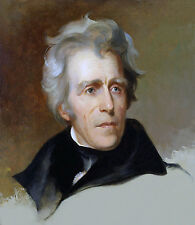 "Andrew Jackson Portrait Painting Large 12.5"" x 14.5"" Real Canvas Art Print"