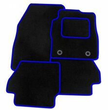 Volkswagen Beetle 2000-2011 TAILORED CAR FLOOR MATS- BLACK WITH BLUE TRIM