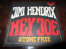 JIMI HENDRIX HEY JOE 1967 Italian Debut 45 Rare Cover ONLY great NM