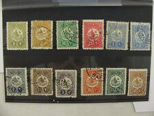 12 stamps Briefmarken Turkey Türkei Mi 159-168 used