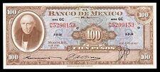 El Banco de Mexico 100 Pesos 19.06.1957 Serie GC. P-55f XF+
