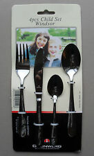 Childrens Kids Cutlery Set, Child Size Knife Fork Spoon, 4 Piece, Windsor