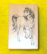 PSX F-2082 Horse rubber stamp animals horses farm Made in USA Wood mounted craft